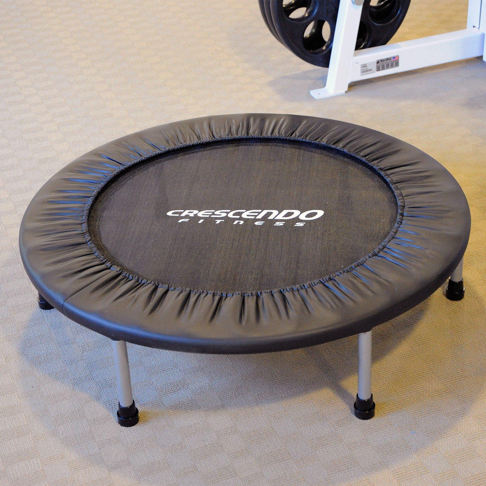Crescendo Fitness Mini Jump Trampoline - 36 in. - Black