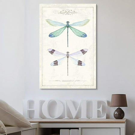 Hand Signed Giclee Canvas - wall26 - Canvas Wall Art - Hand Drawn Dragonfly Collection Single Artwork - Giclee Print Gallery Wrap Modern Home Decor Ready to Hang - 32x48 inches