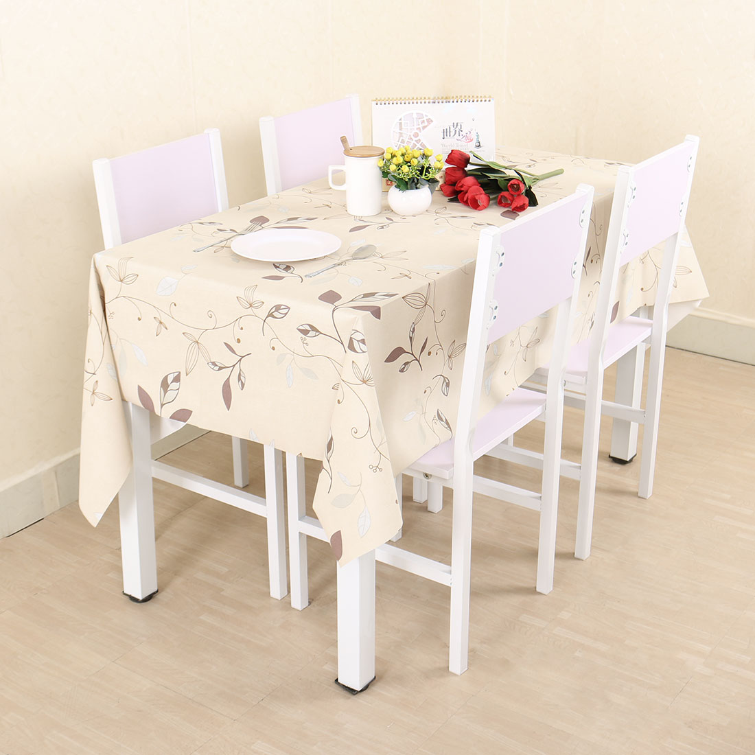 Walmart & Autumn Leaves Printed Wipe Clean PVC Vinyl Tablecloth Pioneer Woman Table Cover For Rectangular Tables