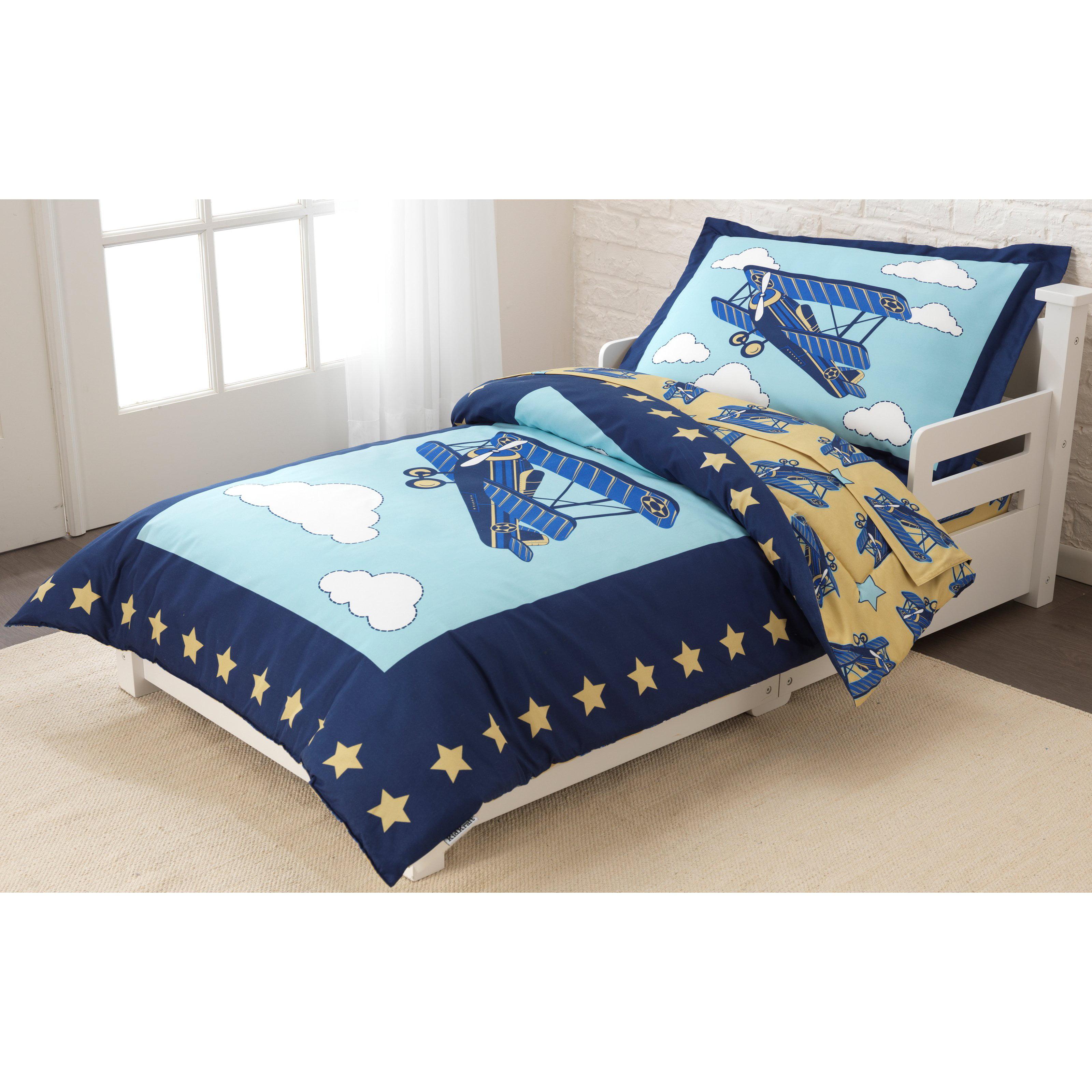 KidKraft Airplane Toddler Bedding