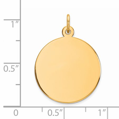 925 Sterling Silver Gp Engraveable Round Disc Pendant Charm Necklace Engravable Plain Fine Jewelry Gifts For Women For Her - image 2 of 6