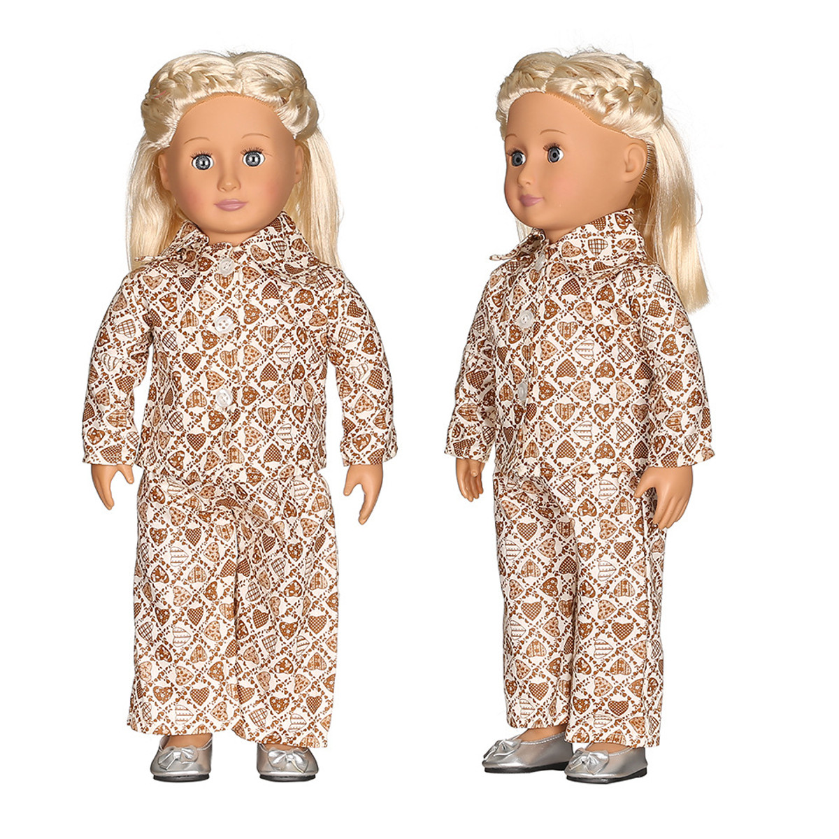 Star Nightgown For American Girl Dolls with Matching Hair Ribbon- Doll Clothes for 18 Inch American Girl Dolls
