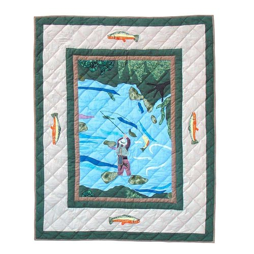 Fly Fishing Crib Quilt by Patch Magic
