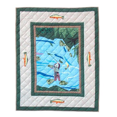 Patch Magic Fly Fishing Crib Quilt Walmart Com