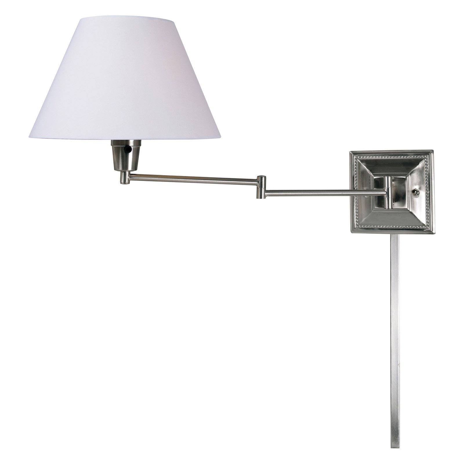 Kenroy Home Denman Brushed Steel Wall Swing Arm Lamp by Kenroy Home
