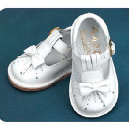 Angels Garment White Bow T Strap Baby Toddler Girl Shoe 3-9.5](Shoes T Strap)