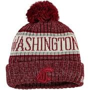 Washington State Cougars New Era Youth Sport Knit Hat with Pom - Crimson - OSFA