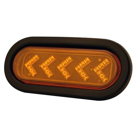 Pilot Automotive 12 Volt 6.44 inch Oval LED Arrow Turn Signal Light-Amber Size: 6-7/16 x 1-3/4 x 2-1/4