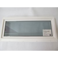 "Transom Window 10"" x 24"" Double Pane Tempered Low-E Glass PVC Frame"