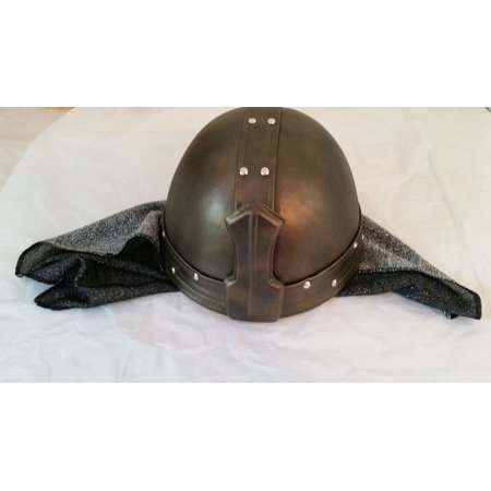 BLACK KNIGHT HELMET hat medieval warrior viking renaissance costume halloween