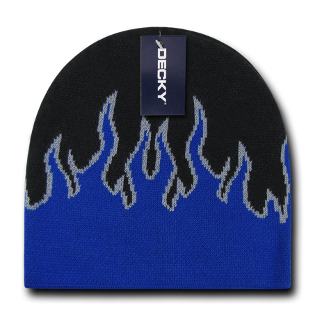 Youth Boys Girls Kids Size Fire Flame Beanies Beany Caps Hats Short Warm Winter ()