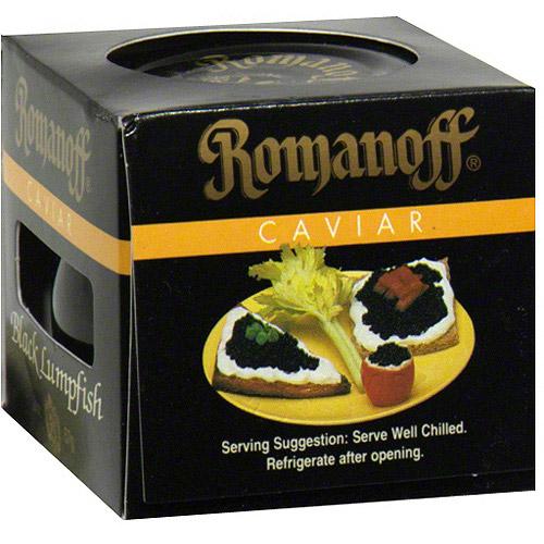 Romanoff Black Lumpfish Caviar, 2 oz (Pack of 6) by Generic