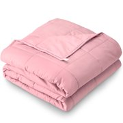 """Bare Home Weighted Blanket (40""""x60"""", 10lb, Grey) Youth Size Heavy Cotton Blanket for Adults & Kids - Sleep Therapy to Help Reduce Stress, Insomnia & Anxiety"""