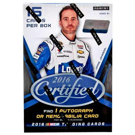 NASCAR 2016 Certified Trading Card Blaster Box
