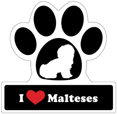 Little Gifts Maltese Paw Car Magnet