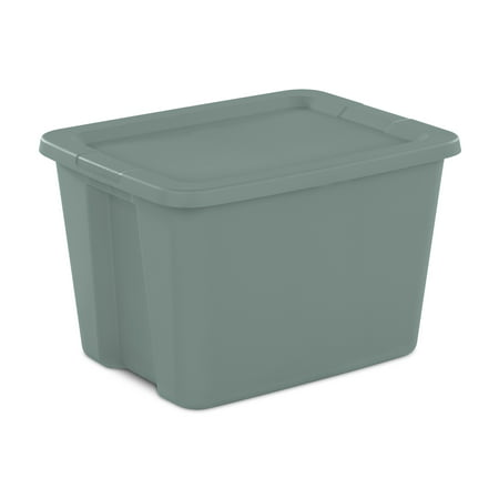 Sterilite 18 Gal. Tote Box Aqua Slate