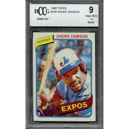 1980 topps #235 ANDRE DAWSON montreal expos BGS BCCG (1980 Topps Card)