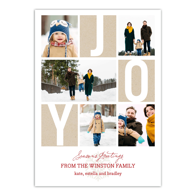 Personalized Holiday Photo Card - Peace & Joy