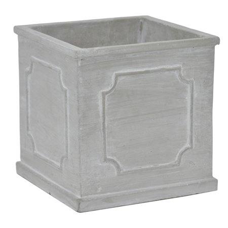 Terra Concrete - Three Hands Decorative Square Weathered Concrete Planter