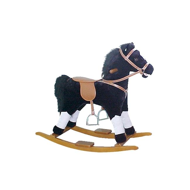 Alexander Taron MT514 Rocking Horse - Black and White Pinto with Sounds