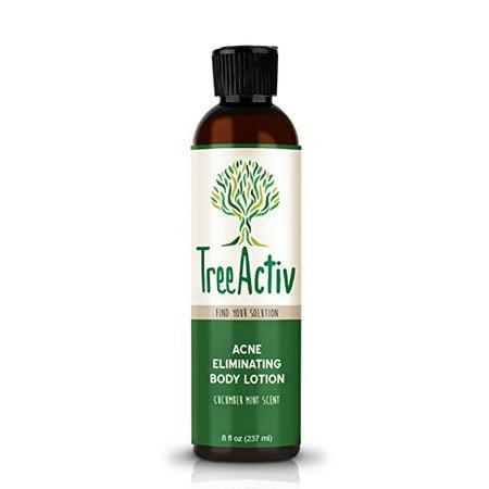 TreeActiv Acne Eliminating Body Lotion, Bacne Salicylic Acne Treatment, Cucumber Mint Scent