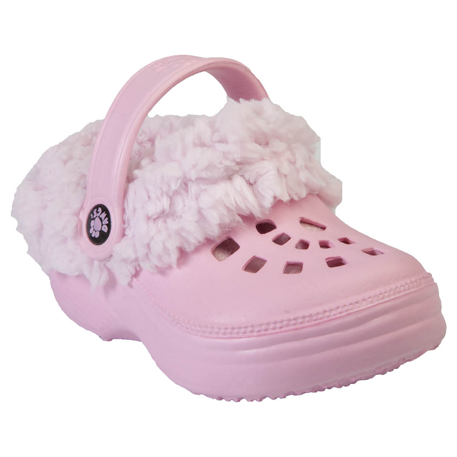 Kid's FleeceDawgs Clogs - Soft Pink with Pink 13-1
