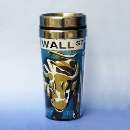 Pack of 6 Decorative NYC Wall Street Thermal Coffee Mug Travel Containers
