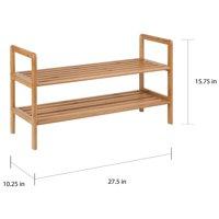 Honey Can Do 2-Shelf Bamboo Shoe Rack