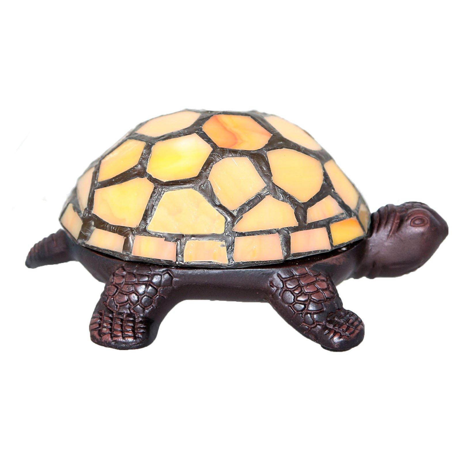 River of Goods Stained Glass LED Wireless Turtle Table Lamp