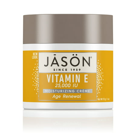 JASON Age Renewal Vitamin E 25,000 IU Moisturizing Crème, 4 Ounce Container 0.5 Ounce Moisturizing Cream
