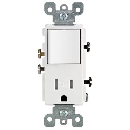 Leviton Single Pole Switch and Receptacle Combination