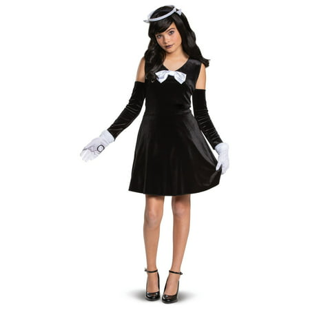 Gothic Angel Halloween Costume (Halloween Bendy and the Ink Machine Alice Angel Classic Child)