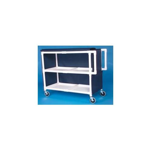 IPU LC242 Jumbo Linen Cart - Two Shelves
