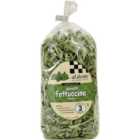 Al Dente Spinach Fettuccine Pasta, 12 oz (Pack of 6)