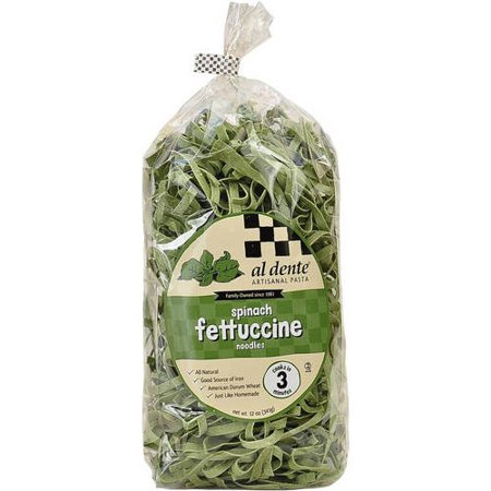 Image of Al Dente Spinach Fettuccine Pasta, 12 oz (Pack of 6)