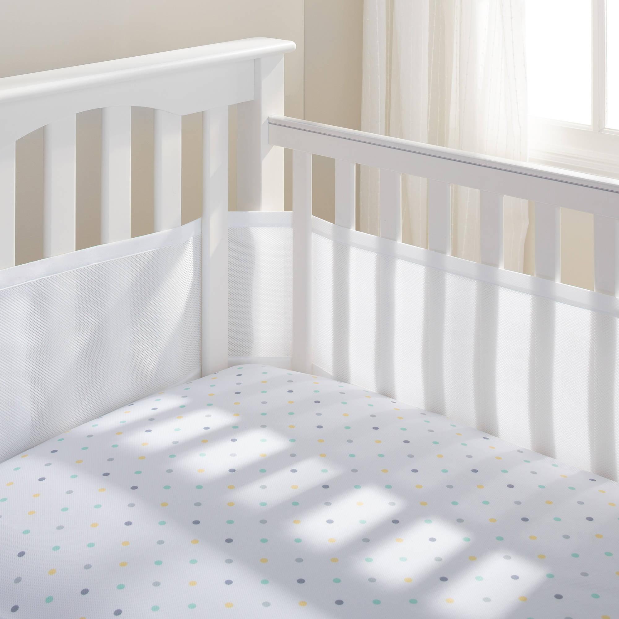 BreathableBaby Mesh Crib Liner, White