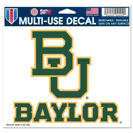 Baylor Bears Official NCAA 4 inch x 6 inch Car Window Cling Decal by (2005 Care Bears)