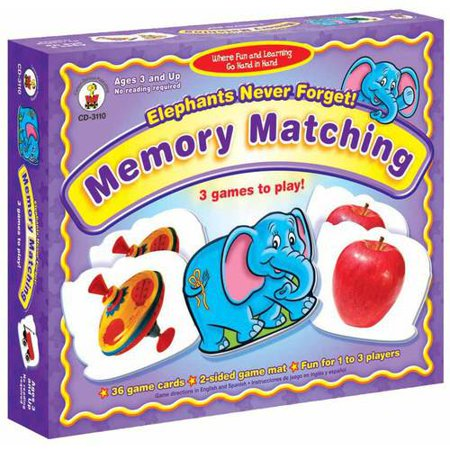 Carson-Dellosa Elephants Never Forget Memory Match Game - Adult Memory Games