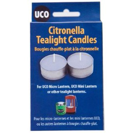 UCO Citronella Tealight Candles (Pack of 6) Multi-Colored