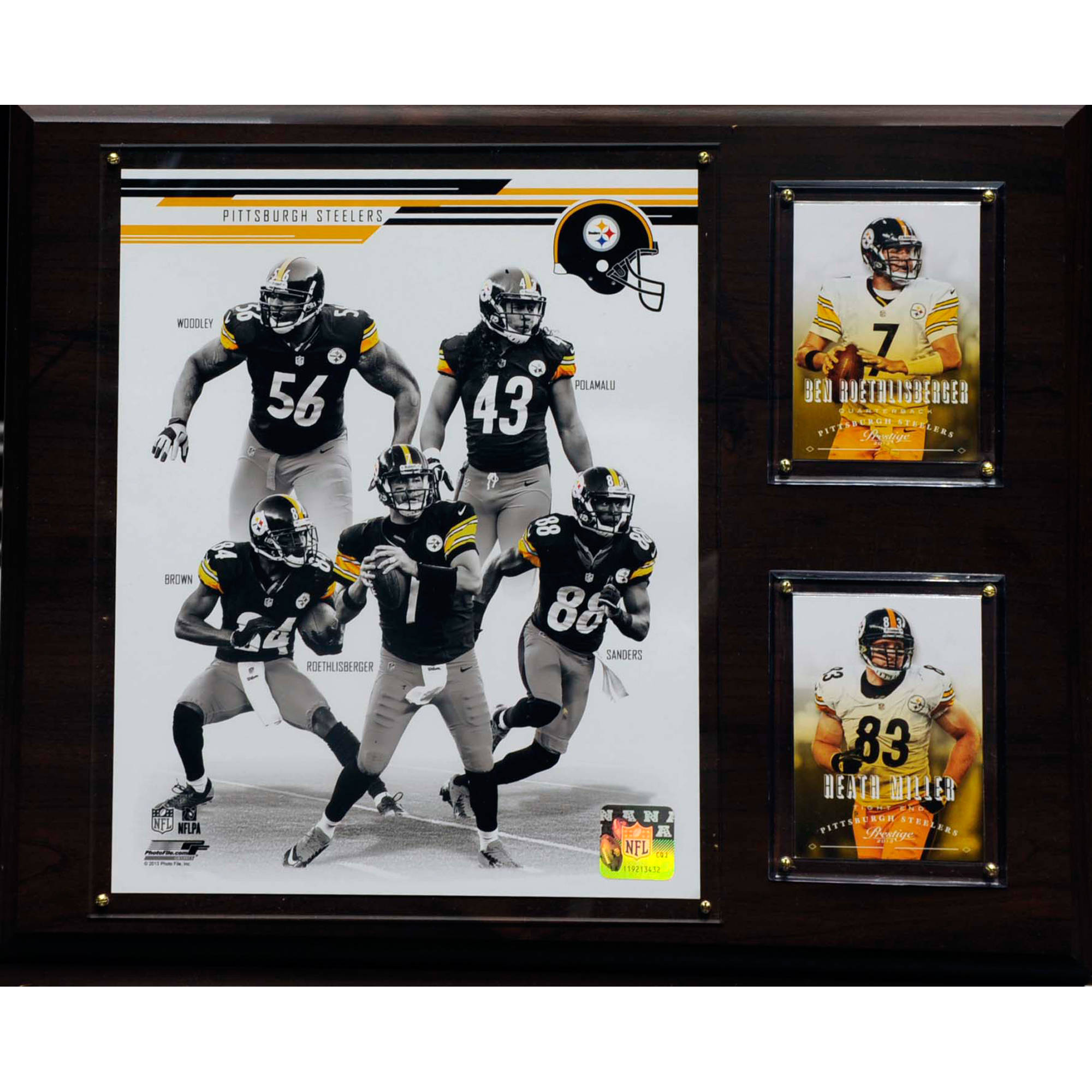 C&I Collectables NFL 12x15 Pittsburgh Steelers 2013 Team Plaque