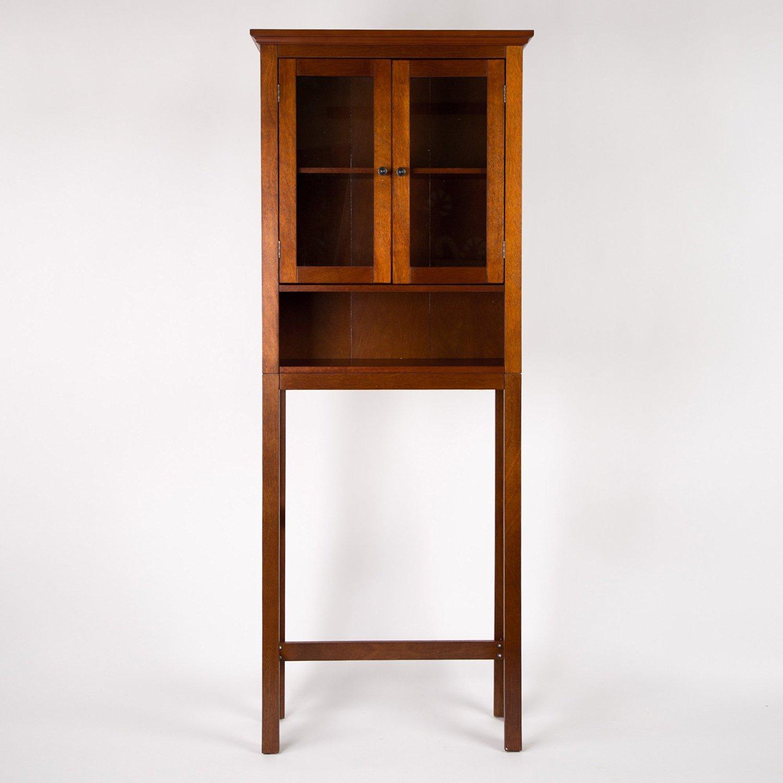 """glitzhome 68.25""""h wooden bathroom storage cabinet spacesaver"""