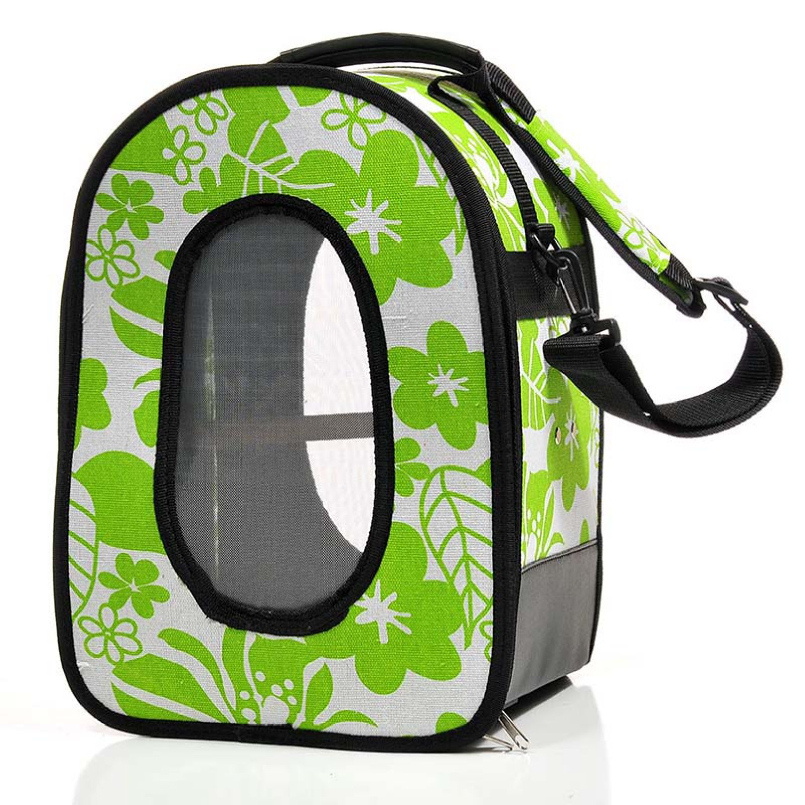 A & E Cage Company Soft Sided Travel Bird Carrier, Large, Green