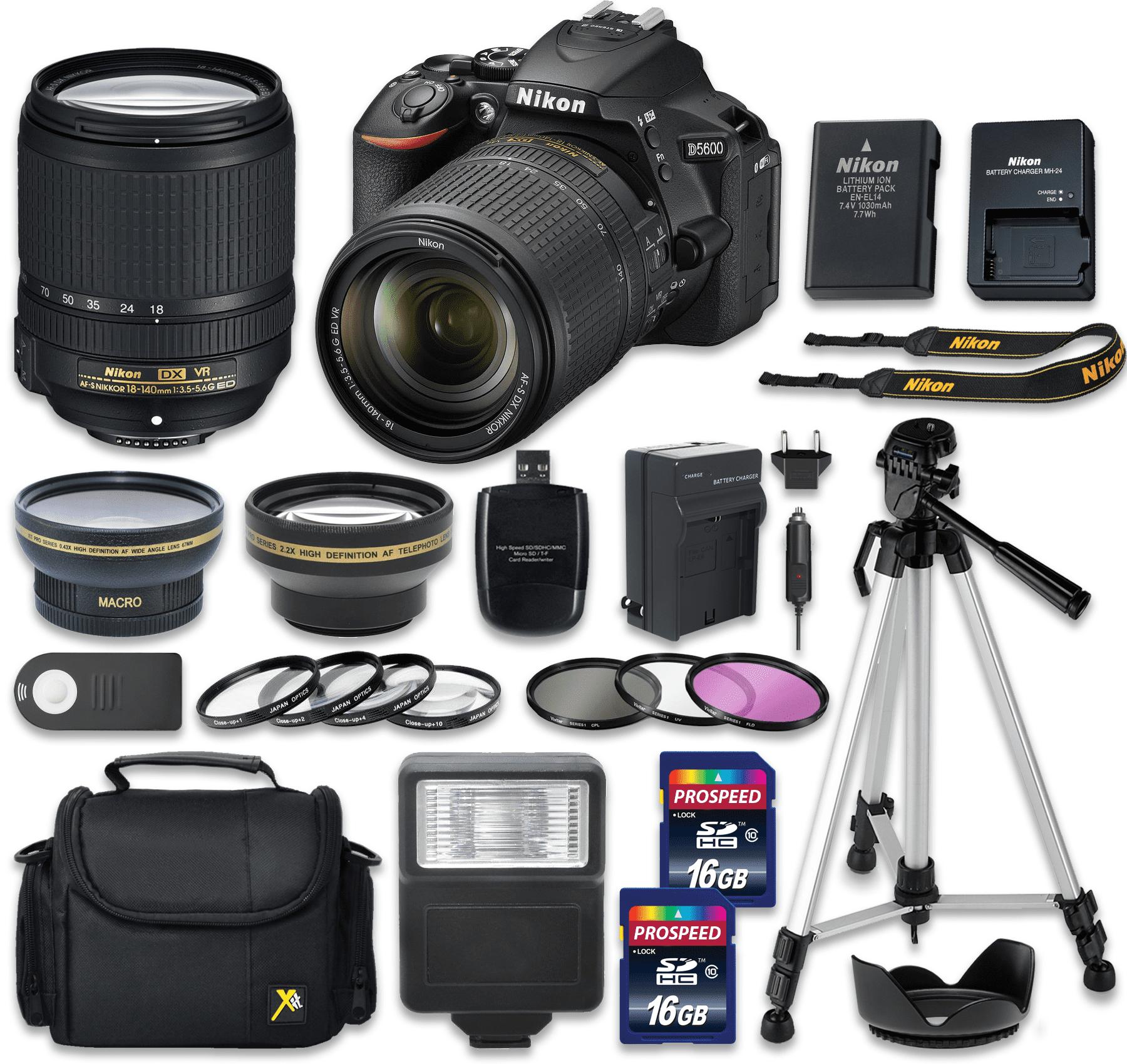 D5600 DX-format Digital SLR Body with NIKKOR 18-140mm f/3...