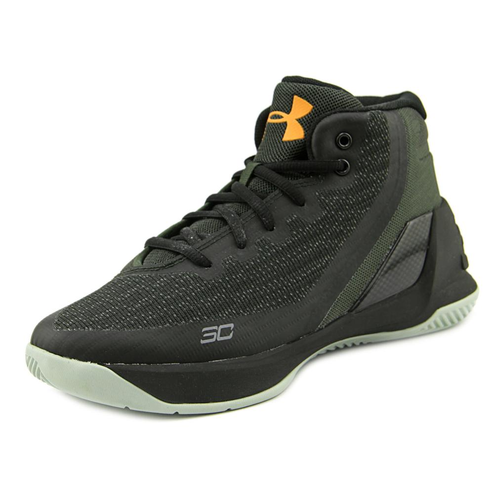Under Armour PS Curry 3 Youth  Round Toe Canvas Black Bas...