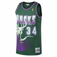 Ray Allen Milwaukee Bucks NBA Mitchell & Ness Green Swingman Jersey For Men
