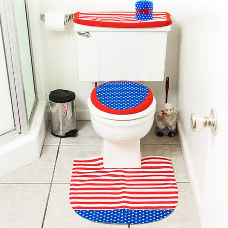 Imperial home 4 piece america themed bathroom decor set for 4 piece bathroom ideas