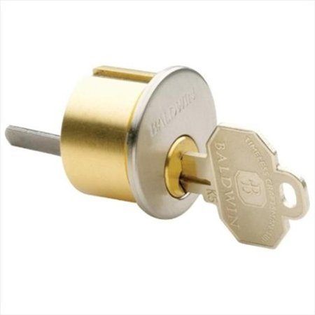 Baldwin Hardware 8323.15 Mortise Lock Cylinder for 1-.75 in. Door in Satin Nickel