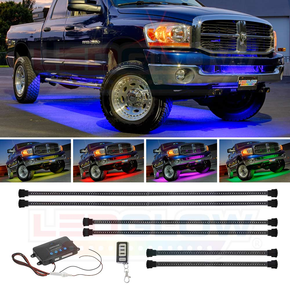 LEDGlow 6pc Million Color SMD LED Wireless Truck Underbody Underglow Lighting Kit