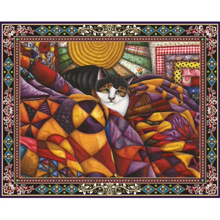 Quilted Cat 1000 Piece Jigsaw Puzzle (Cat Jigsaw Puzzle)
