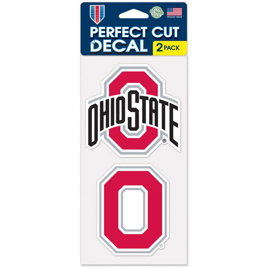Ohio State Buckeyes Official NCAA 4 inch x 4 inch Each Die Cut Car Decal 2-Pack by Wincraft